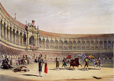 Bull Fighting Photograph - The Plaza Of Seville by British Library