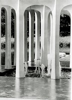 The Pleasure Pavilion In Connecticut Print by Horst P. Horst