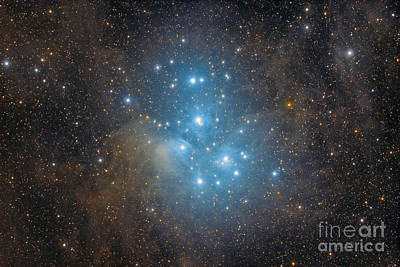 The Pleiades, An Open Star Cluster Art Print by Roberto Colombari