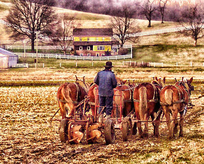 The Plow Art Print by B Wayne Mullins