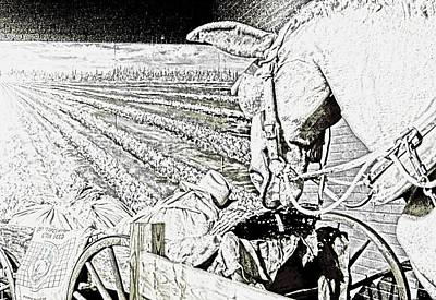 Digital Art - The Plow Horse by Bob Pardue
