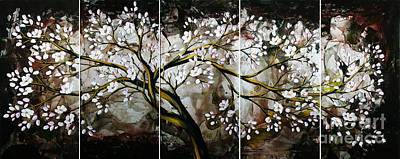 Cherry Blossoms Painting - The Plum Blossom 001 by Willson Lau