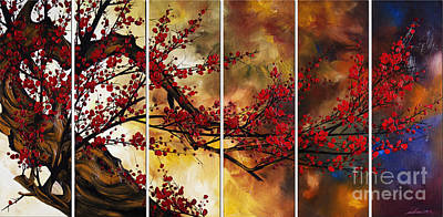 Cherry Blossoms Painting - The Plum Blossom 002 by Willson Lau