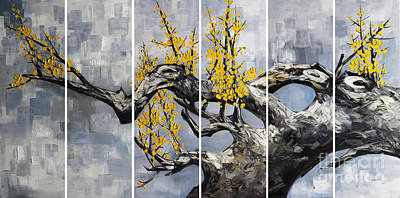Cherry Blossoms Painting - The Plum Blossom 006 by Willson Lau