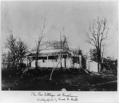 The Poe Cottage At Fordham, The Home Art Print by Everett