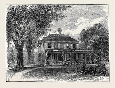 The Poet Longfellows House In Massachusetts Art Print by English School