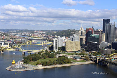 The Point At Pittsburgh Art Print by Pat McGrath Avery