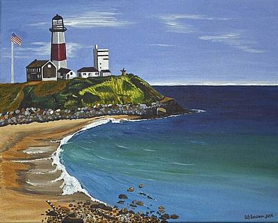 Painting - The Point by Donna Blossom