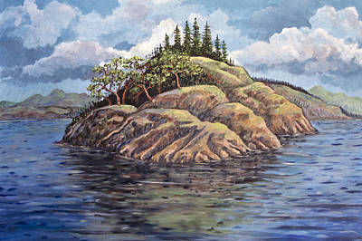 Painting - The Point by Ken Ketchum