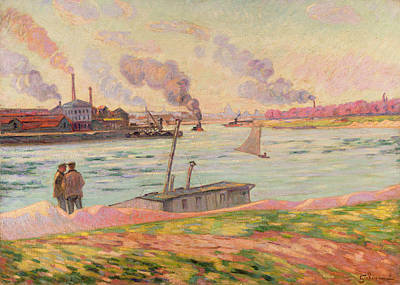 Boating On The Seine Painting - The Pointe D'ivry by Jean Baptiste Armand Guillaumin