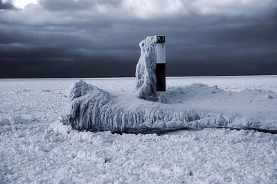 The Haven Photograph - The Polar Vortex Freezes The Great Lakes by Dan Sproul