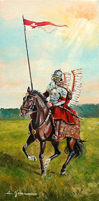 Painting - The Polish Winged Hussar by Luke Karcz