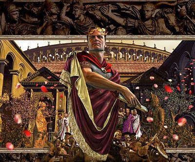The Politics Of The Roman Senate Art Print by Kurt Miller