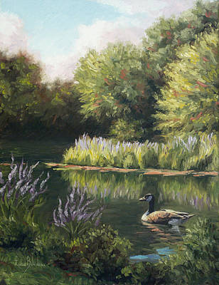 Painting - The Pond by Lucie Bilodeau