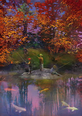 Koi Digital Art - The Pond On The Eighteenth by Robert Conway