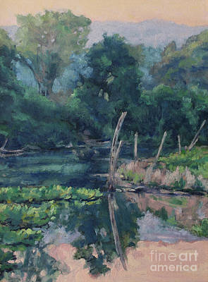 Painting - The Pond's Edge by Gregory Arnett