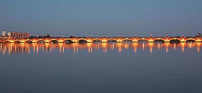 Photograph - The Pont De Pierre Bridge In Bordeaux by Allan Baxter
