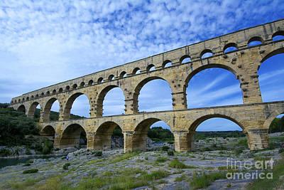 The Pont Du Gard.france Art Print by Bernard Jaubert