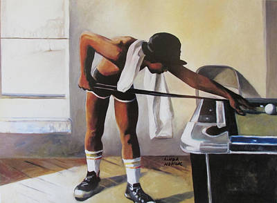Painting - The Pool Player by Linda Novick