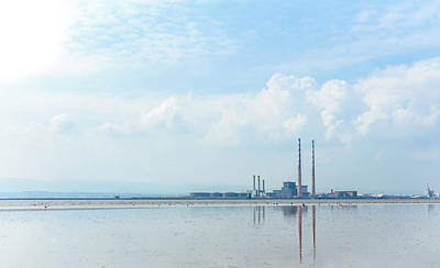 U2 Photograph - The Poolbeg Chimneys Reflection  by John Hurley