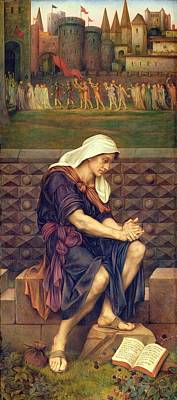 Save Painting - The Poor Man Who Saved The City by Evelyn De Morgan