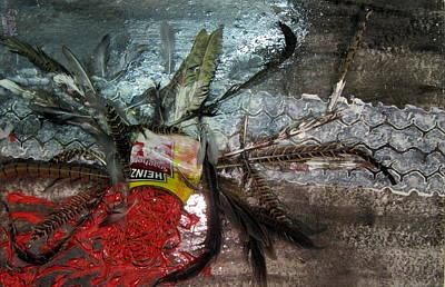 The Poor Spaghetti Bird Has  Been Tyre _d . Art Print by Errol  Jameson