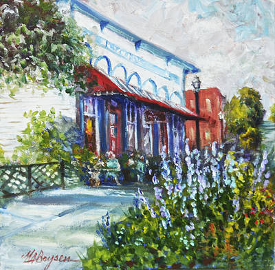 The Popcorn Shop In Chagrin Falls Oh Art Print
