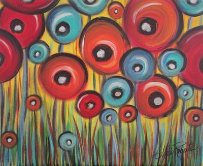 Poppies Field Painting - The Poppy Field by Molly Roberts