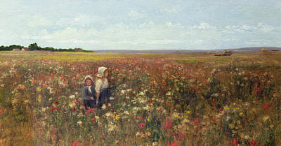 Poppies Field Painting - The Poppyfield by Kate Colls