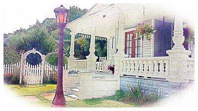 Photograph - The Porch Lamp Post And The Gate by Becky Lupe