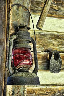 Log Cabins Photograph - The Porch Light by Jan Amiss Photography