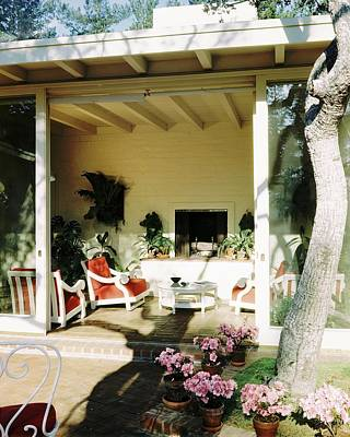 Coffee Table Photograph - The Porch Of Mr. And Mrs. George L. Elkins by Fred Lyon