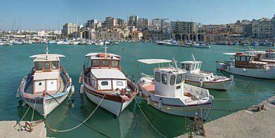 Photograph - The Port At Heraklion, Crete by Ed Freeman