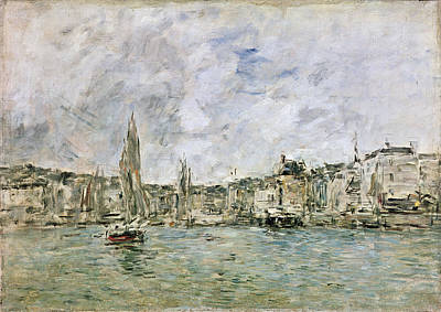 Impressionist Photograph - The Port At Honfleur, 1896 Oil On Canvas by Eugene Louis Boudin