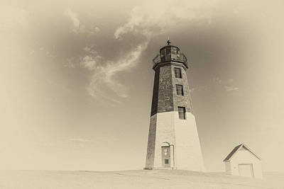 Photograph - The Port Judith Lighthouse by Karol Livote