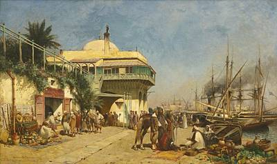 Jerusalem Painting - The Port Of Algiers by Celestial Images