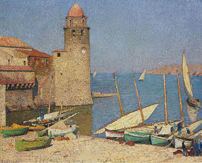 Collioure Painting - The Port Of Collioure by Henri Martin