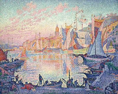 Saint Tropez Painting - The Port Of Saint-tropez by Paul Signac