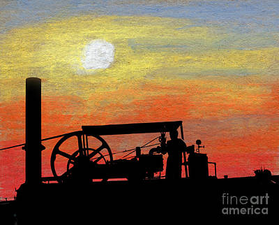 Boiler Mixed Media - The Portable Engine by R Kyllo