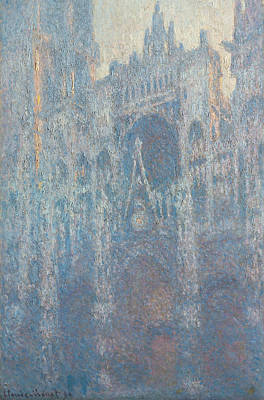 Morning Light Painting - The Portal Of Rouen Cathedral In Morning Light by Claude Monet