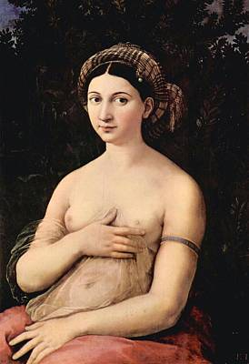 Borghese Painting - The Portrait Of A Young Woman by Raffaello Sanzio