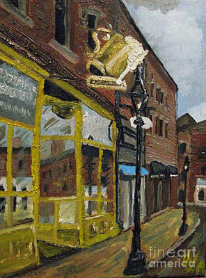 Painting - The Portsmouth Brewery by Francois Lamothe