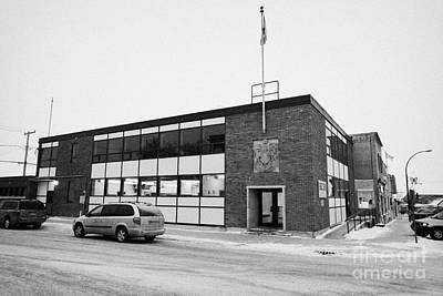 Postoffices Photograph - the post office building Biggar Saskatchewan Canada by Joe Fox