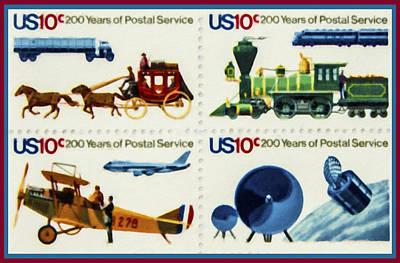 Bicentennial Painting - The Postal Service Bicentennial Stamp by Lanjee Chee
