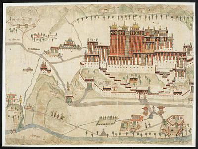 The Potala And Jo-khan Art Print