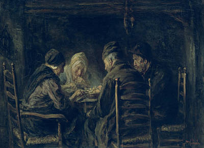 Meal Painting - The Potato Eaters, 1902 by Jozef Israels