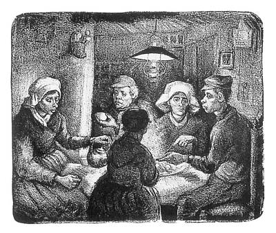 Potato Drawing - The Potato Eaters by Vincent Van Gogh
