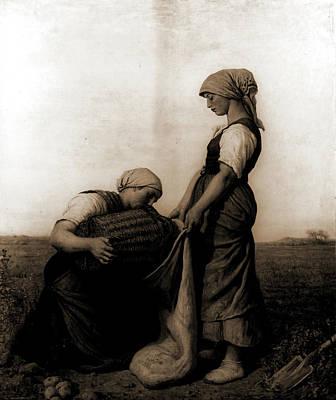 Potato Drawing - The Potato Harvest, Breton, Jules, 1827-1906 by Litz Collection