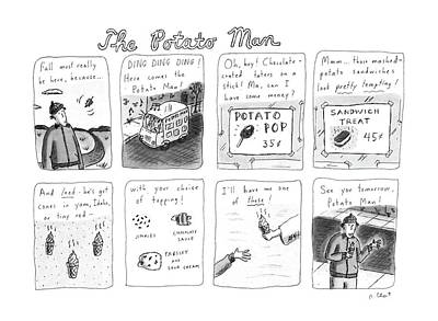 Potato Drawing - The Potato Man by Roz Chast
