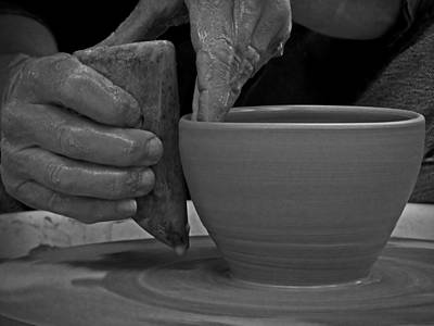 Photograph - The Potter's Hands by Lucinda Walter